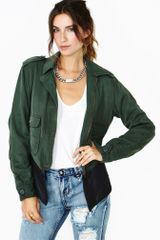 Nasty Gal Dakota Collective Austin Army Jacket - Lyst