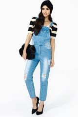 Nasty Gal Reckless Overalls - Lyst