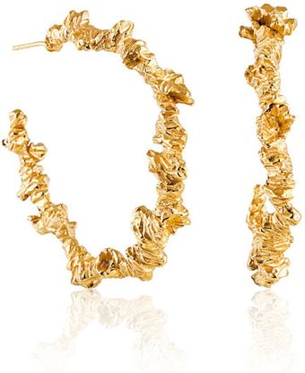 Niza Huang Under Earth Irregular Gold Hoop Earrings - Lyst