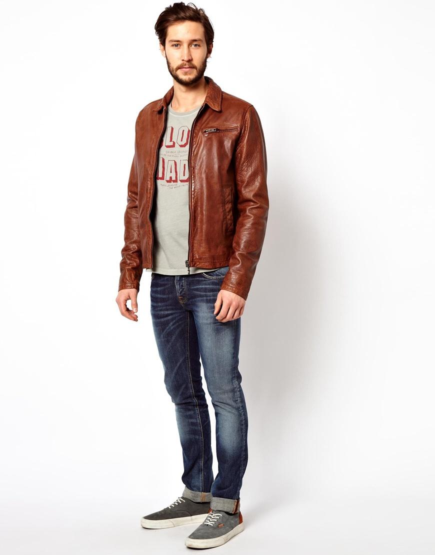 Cognac Jacket Leather - Jacket