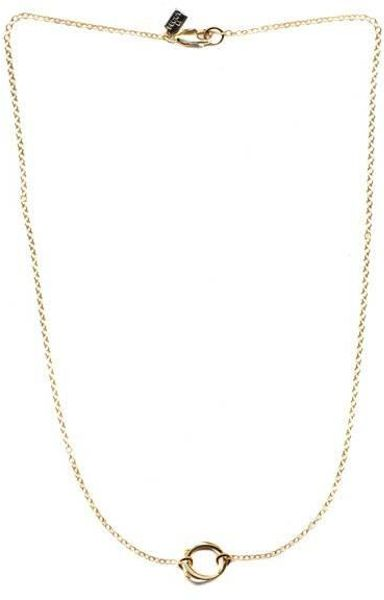 Peggy Li Single Clustered Circle Necklace in Gold