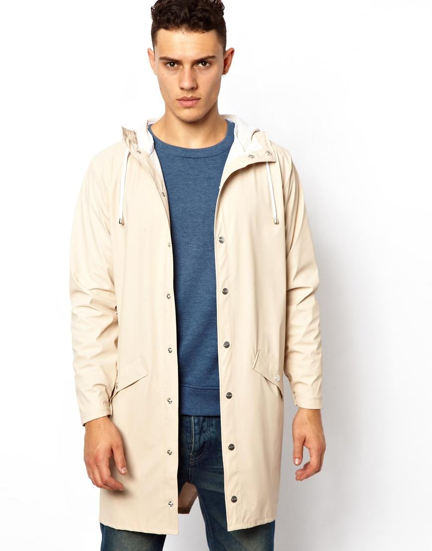 Eleven paris Rains Long Jacket in Natural for Men | Lyst