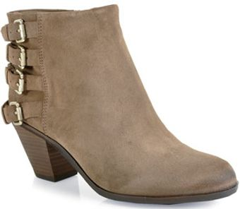 Sam Edelman Lucca Buckled Suede Booties - Lyst