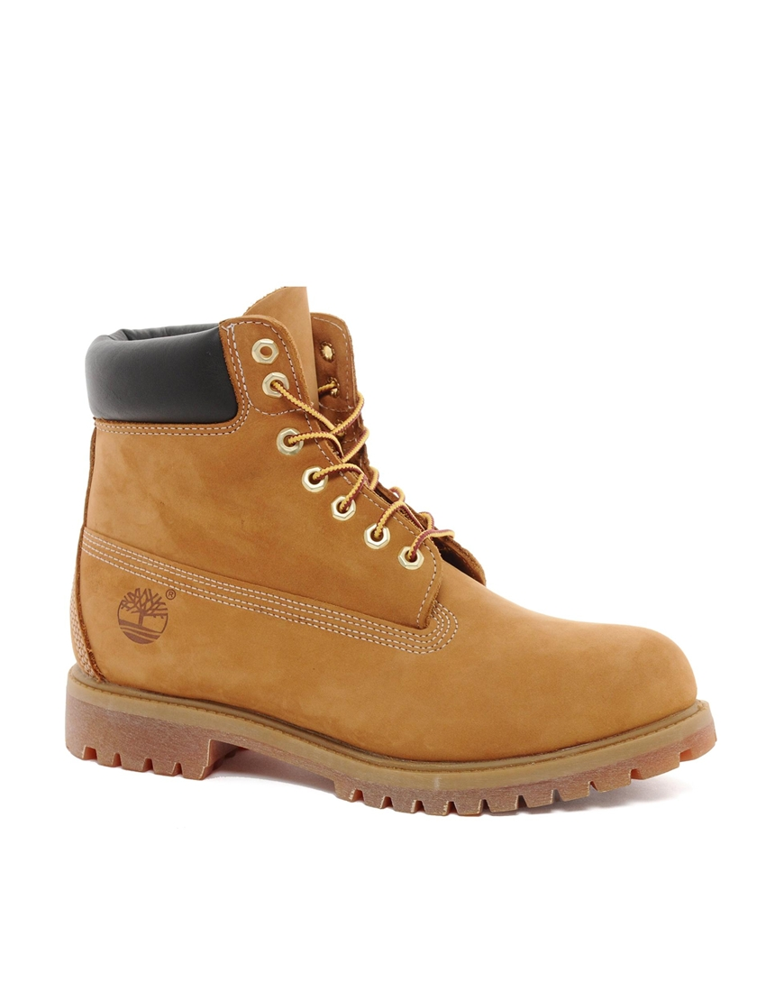 timberland classic 6 quot premium boots in brown for