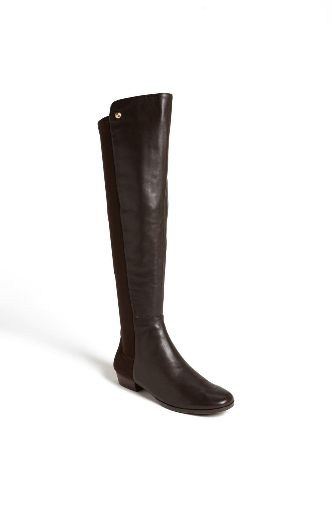 vince camuto karita the knee boot in black brown lyst
