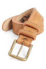 Will Leather Goods Triple Stitch Belt - Lyst
