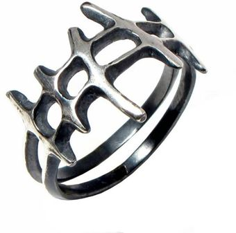 Arosha Luigi Taglia Samurai Men Ring in Sterling Silver - Lyst