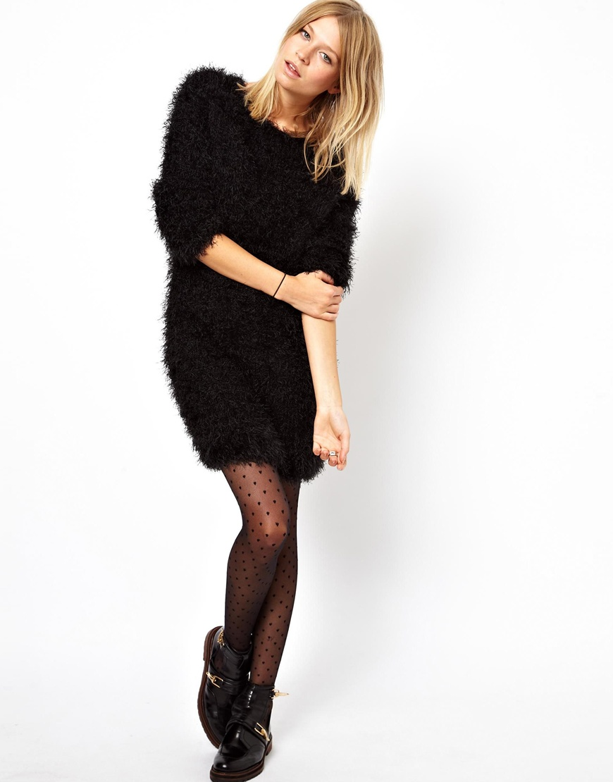 variety of designs and colors Discover search for official ASOS Fluffy Jumper Dress in Natural - Lyst
