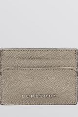 Burberry Solid Leather Card Case Wallet - Lyst