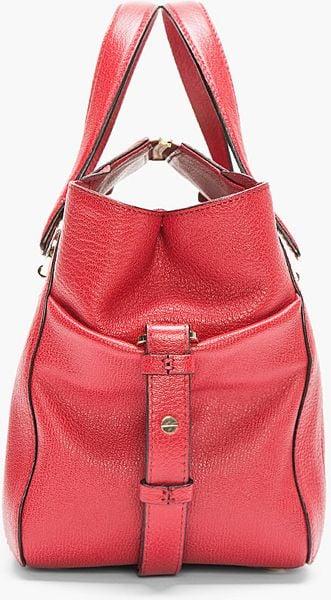 Chloe Red Pebbled Leather Bridget Shoulder Bag 87