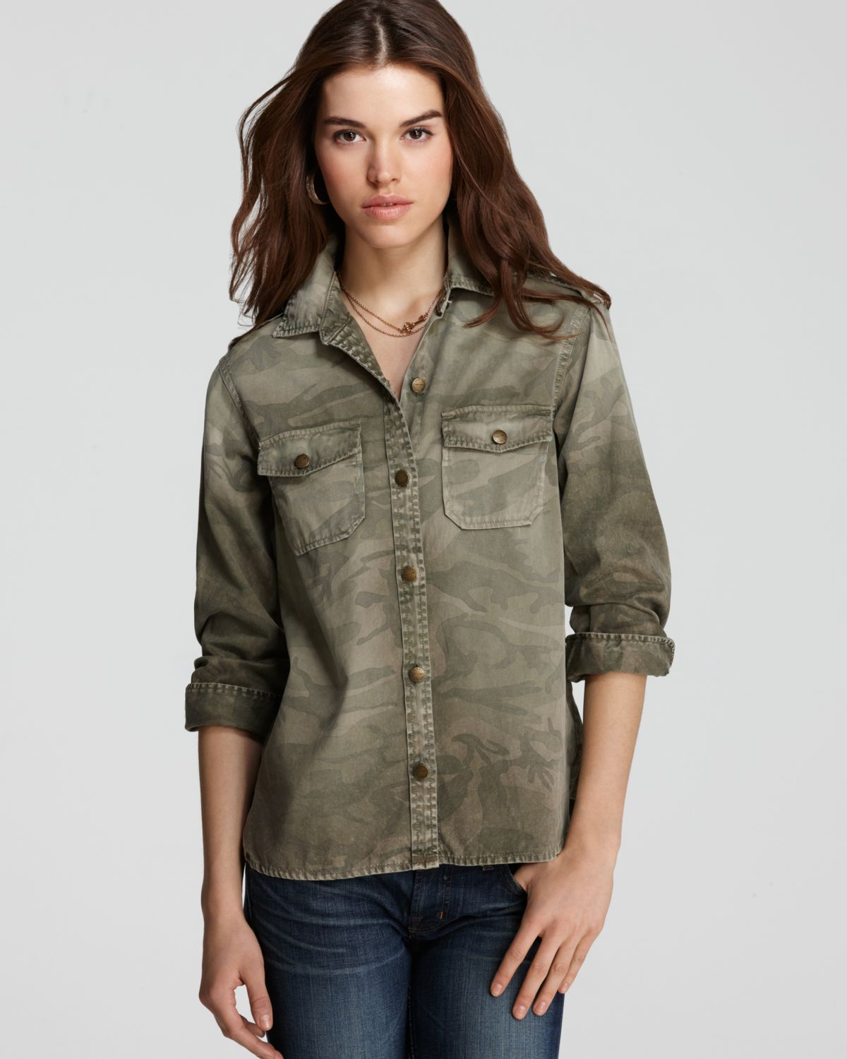 current elliott shirt the perfect shirt in camo in gray