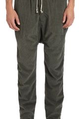 DRKSHDW by Rick Owens Drop Crotch Corduroy Pants - Lyst