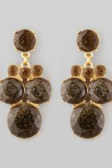 Kate Spade Glitter Chandelier Earrings Smokegold - Lyst