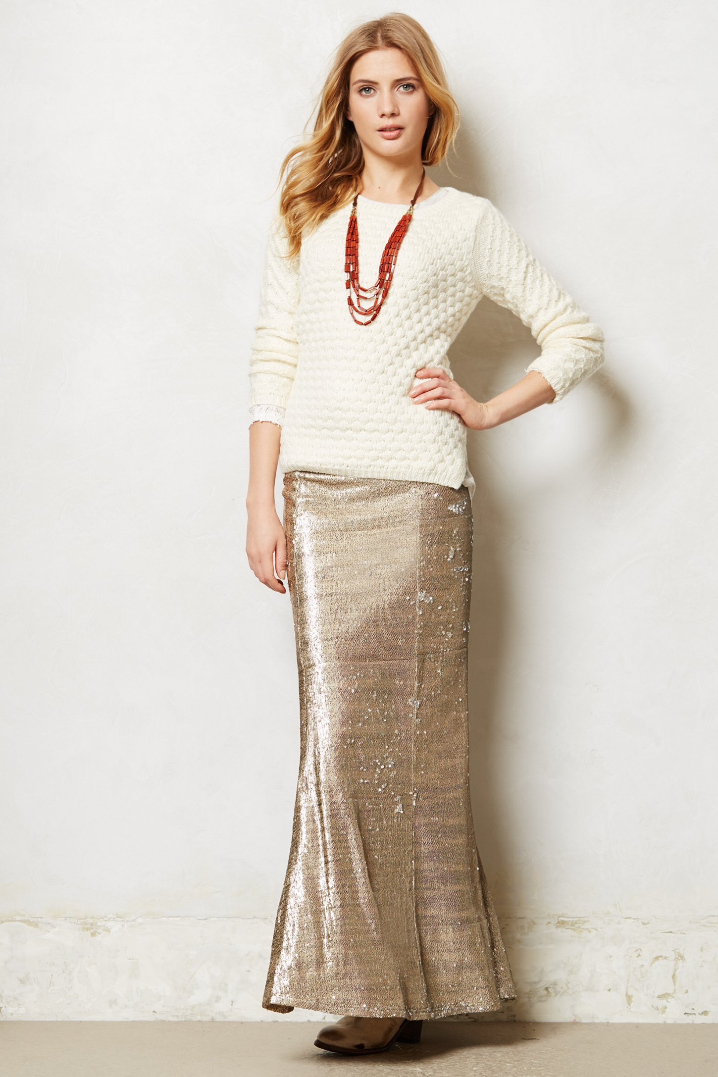Line & dot Sirene Sequin Skirt in Metallic | Lyst
