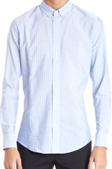 Maison Martin Margiela Slim Fit Striped Button Front Shirt - Lyst