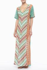 Missoni Long Patterned Coverup Dress - Lyst