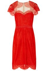 Notte By Marchesa Shrugeffect Lace Dress - Lyst