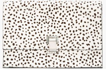Proenza Schouler White Spotted Calf Hair Lunch Bag Clutch - Lyst