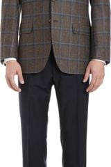 Sartorio Windowpane Check Two-button Sport Coat - Lyst