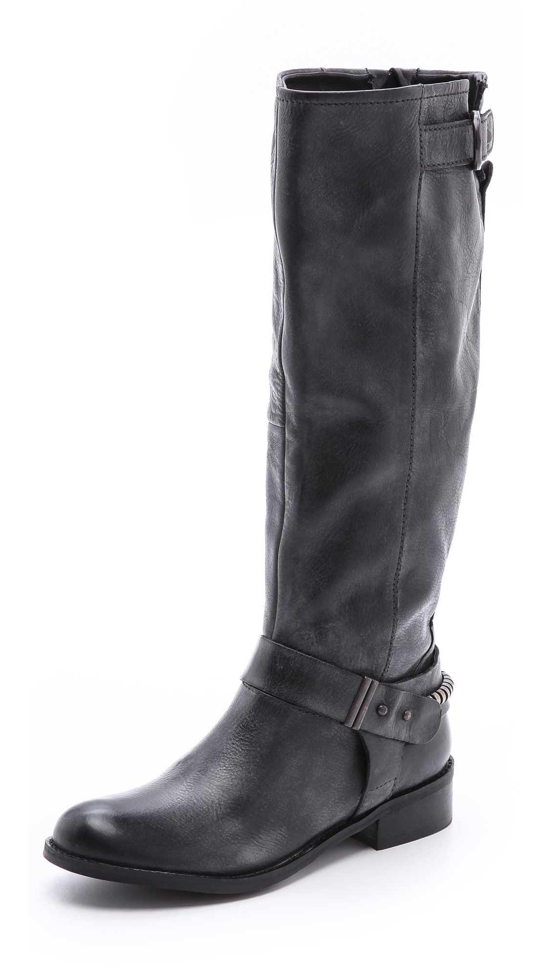 steven by steve madden ryley flat boots in black lyst