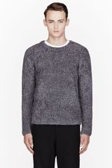 T By Alexander Wang Grey Fluffy Sweater - Lyst