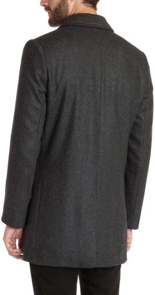 Ted Baker Zainab Herringbone Coat In Gray For Men Charcoal Lyst