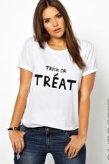 Asos Curve Tshirt with Trick Or Treat - Lyst