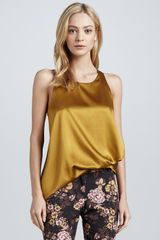 Elizabeth And James Kimera Sleeveless Satin Top - Lyst
