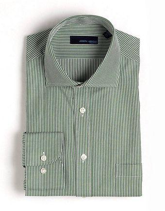 Joseph Abboud Textured Check Cotton Dress Shirt - Lyst