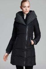 Mackage Coat Brigid Down with Knit Trim Hood - Lyst