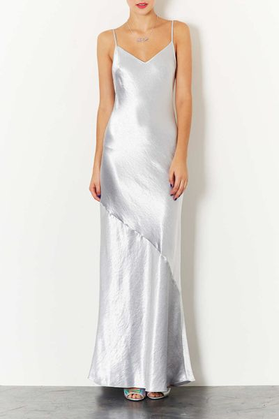 Dress in Silver Topshop