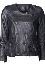 3.1 Phillip Lim Lamb Leather Jacket - Lyst