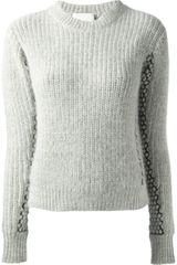 3.1 Phillip Lim Textured Knit Sweater - Lyst