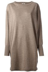 Acne Shore Merino Long Knit Sweater - Lyst