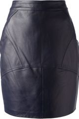 Alexander Wang Panelled Leather Skirt - Lyst