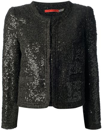 Alice + Olivia Textured Jacket - Lyst