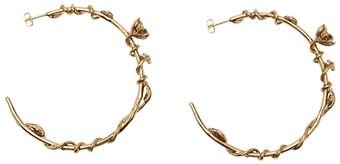 Aurelie Bidermann Rose and Feather Earring - Lyst
