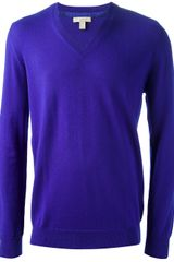 Burberry Brit Classic V-neck Sweater - Lyst