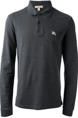 Burberry Brit Long Sleeve Polo Shirt - Lyst