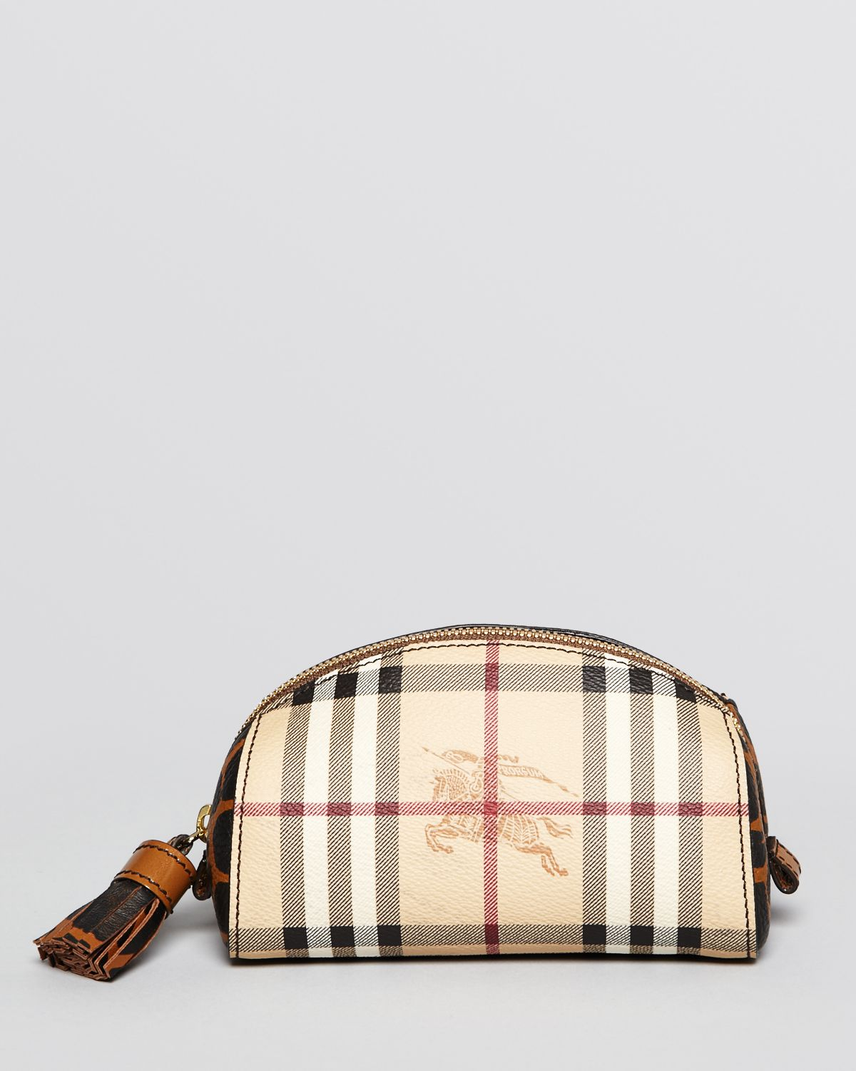 Lyst - Burberry Cosmetic Pouch Evelyn Small Check in Natural ad98279a23d3d