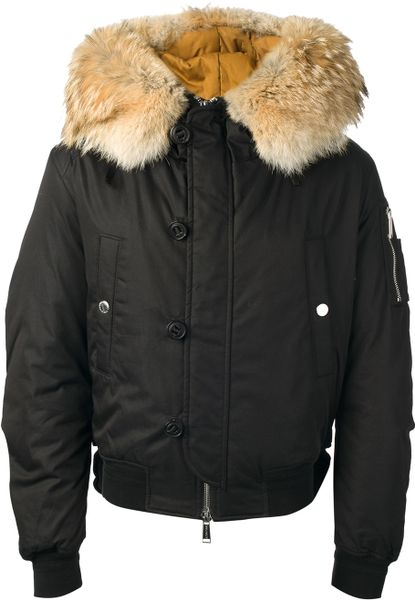 dsquared2 padded jacket in black for men lyst. Black Bedroom Furniture Sets. Home Design Ideas