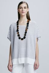 Eileen Fisher Linen Striped Top - Lyst