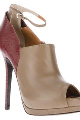 Fendi Peep Toe Pump - Lyst
