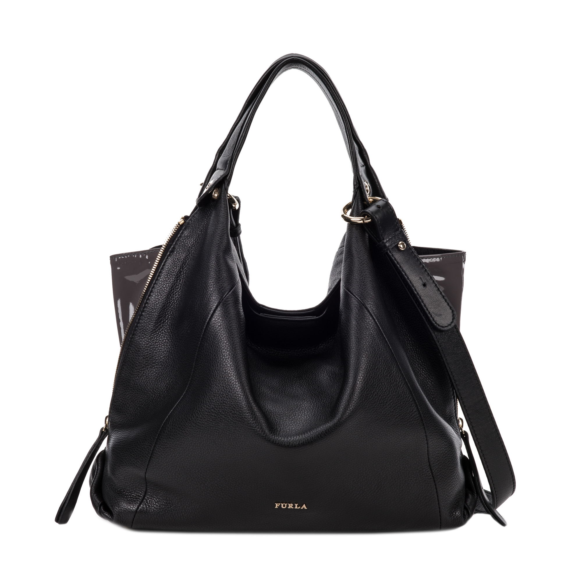 Furla Elisabeth Hobo Bag in Black (onyx