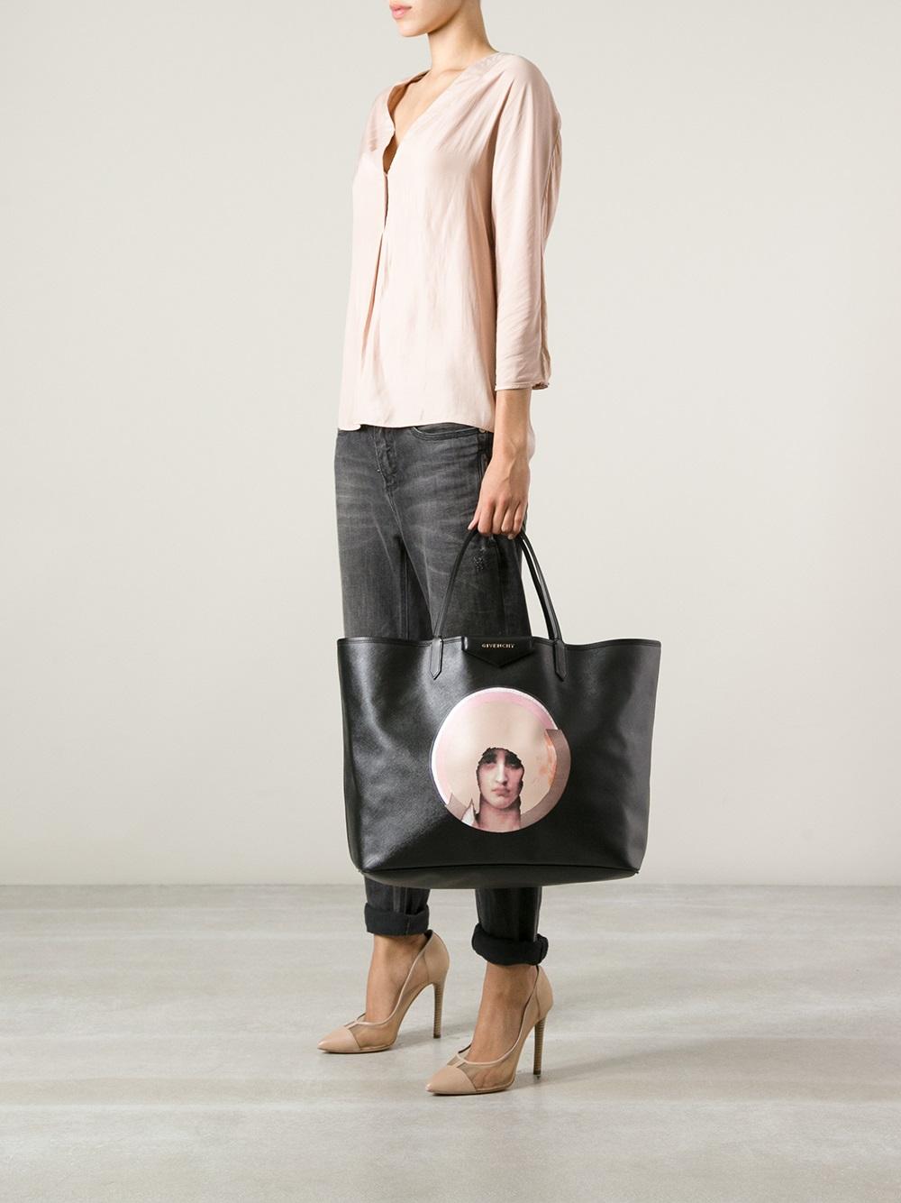... pretty nice c6972 46de5 Lyst Givenchy Antigona Large Ping Tote In Black  ... 3075722b5b