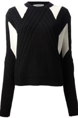 Givenchy Ribbed Geometric Sweater - Lyst