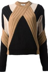 Givenchy Multipanel Knit Sweater - Lyst
