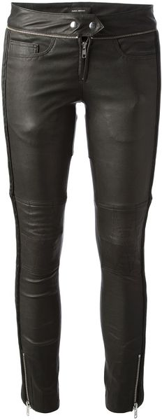 Isabel Marant Kerry Biker Leather Trouser - Lyst