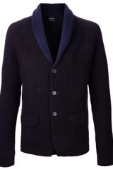 Jil Sander Shawl Collar Sweater Jacket - Lyst