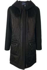 Lanvin Hooded Coat - Lyst